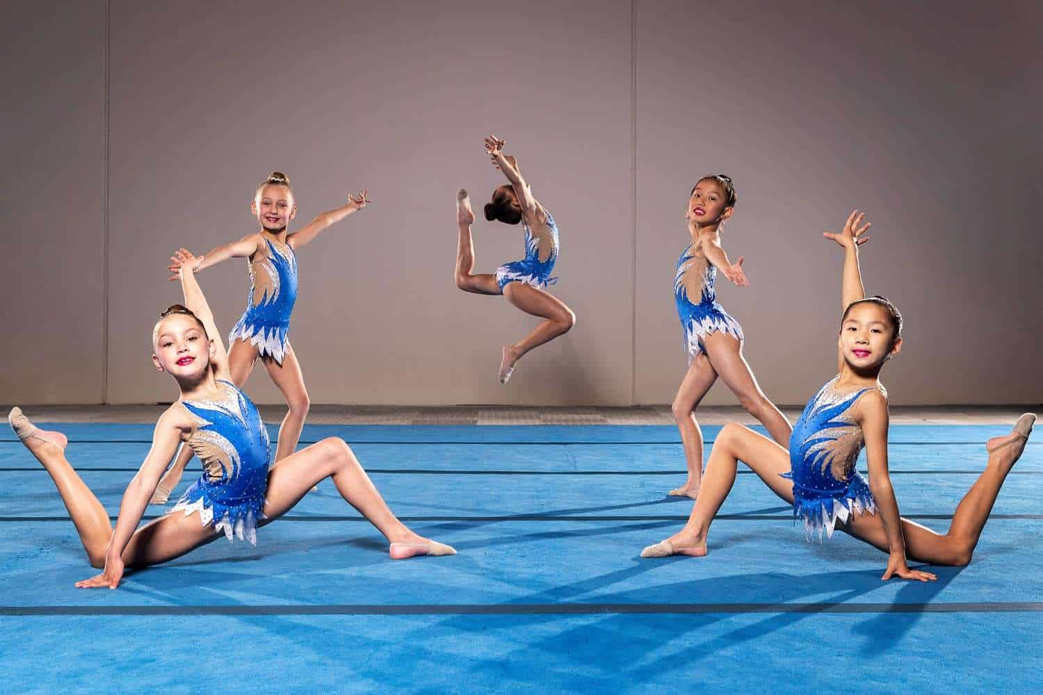 girls at aesthetic group gymnastics