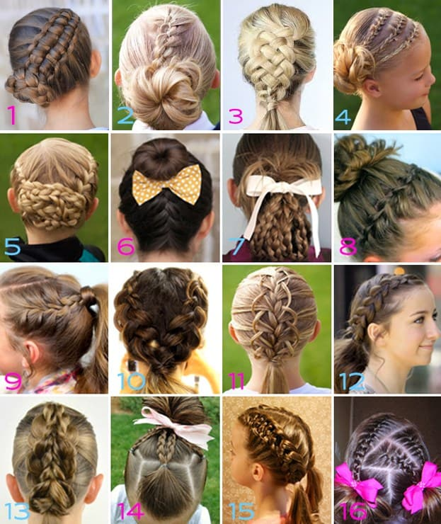 gymnastics competition hair styles