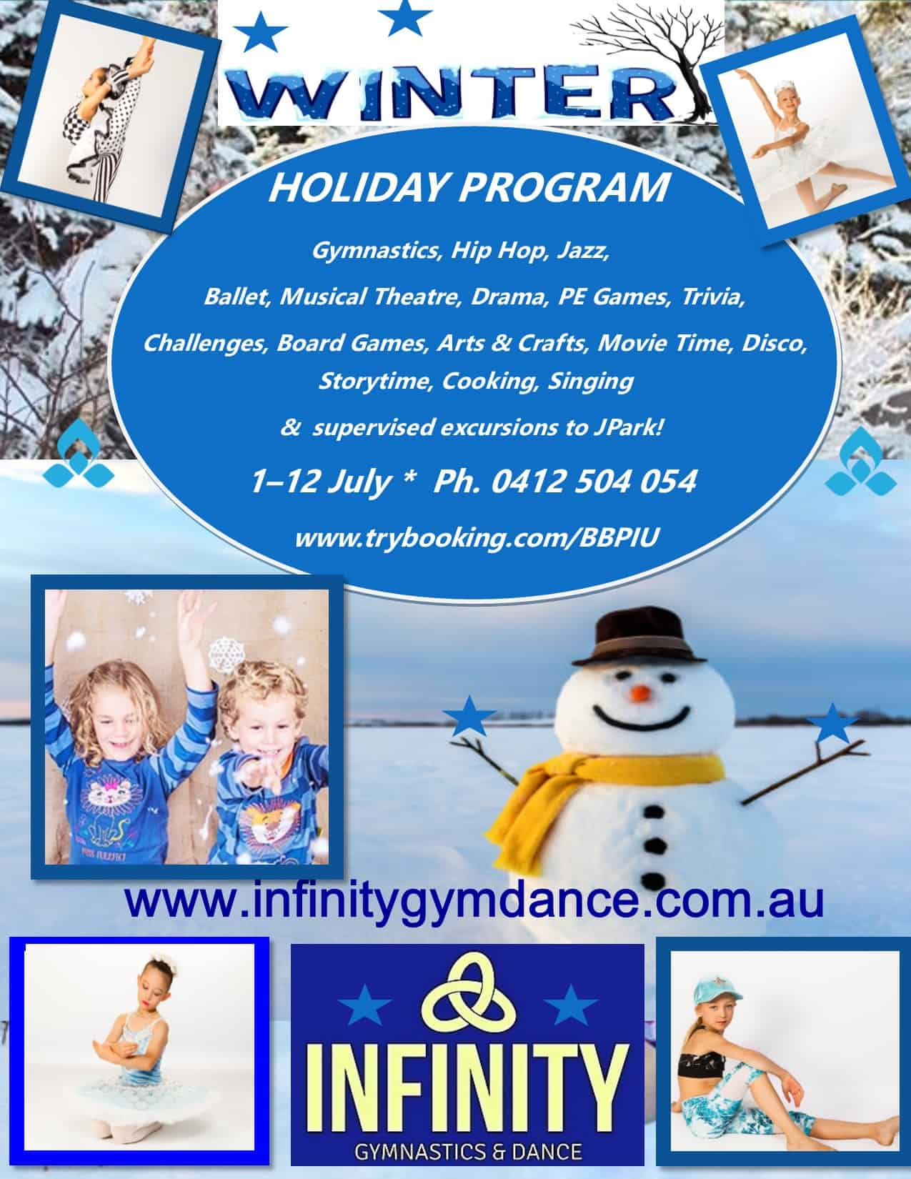 Winter Holiday Program 2019 flyer